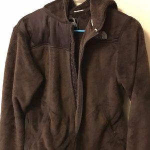 North face women's brown hooded zipper jacket